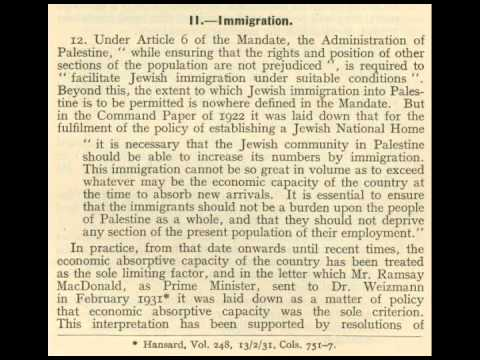 The White Paper of 1939