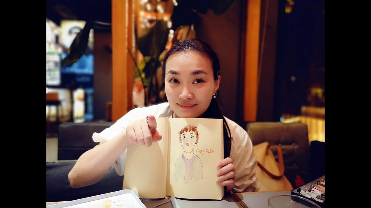 绘画作品Artworks:《餐厅里的孟媛》Mengyuan