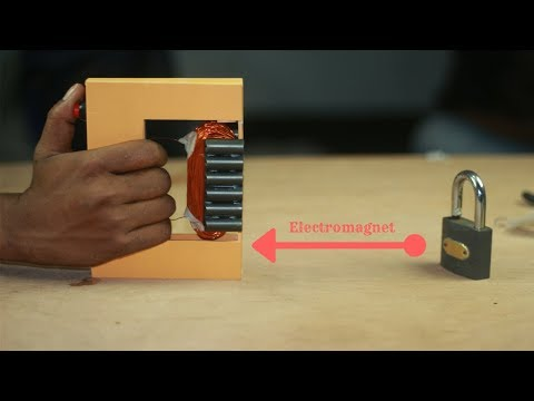 How To Make An Electromagnet Easily By Tv Flyback | Easy Home Made Electromagnet Projects |