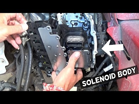 TRANSMISSION SOLENOID BODY COMPUTER ASSEMBLY REPLACEMENT REMOVAL 6T30 6T35 6T40 6T45 CHEVROLET GMC