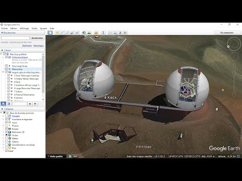 largest optical reflecting telescopes Google Earth