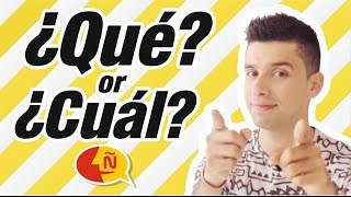 Learn Spanish - ¿Qué? vs ¿Cuál? / Spanish for Beginners !