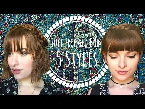 5 NO HEAT HAIRSTYLES FOR SHORT HAIR AND FULL FRINGES