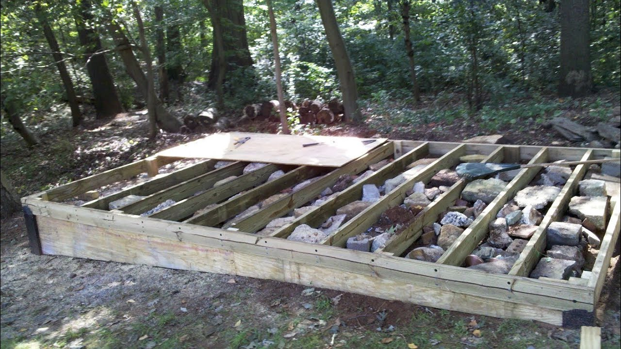 ^ How o Build a Level Shed, tiny houses, barn foundation, platform ...