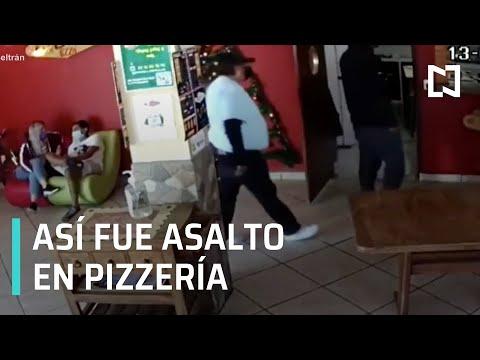 Graban asalto en restaurante de pizzas en Puebla - Las Noticias