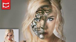 Photoshop Dersleri Manipülasyon Foto Efekt - Yarı İnsan Yarı Hayvan