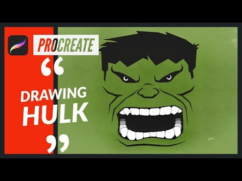 Drawing HULK EASY - Procreate drawing tutorial (avengers infinity war)