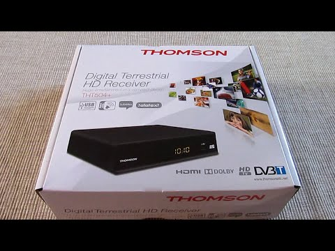 Test Thomson THT504+ Déballage et mise en service Décodeur TNT HD PVR (Partie 1)  idem SRT 8114