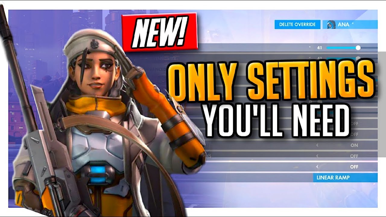 *NEW* Ana: Perfect Aim Controller Settings! Console PS4/Xbox One Overwatch  Accuracy Tips