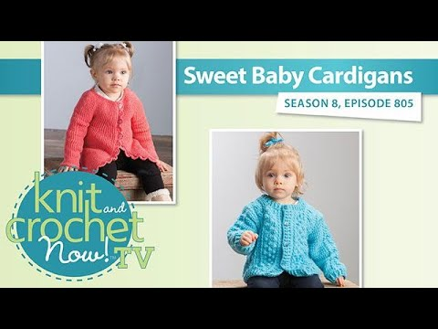 Sweet Baby Cardigans | An Annie's Creative Studio Episode! Start Your FREE TRIAL Today!