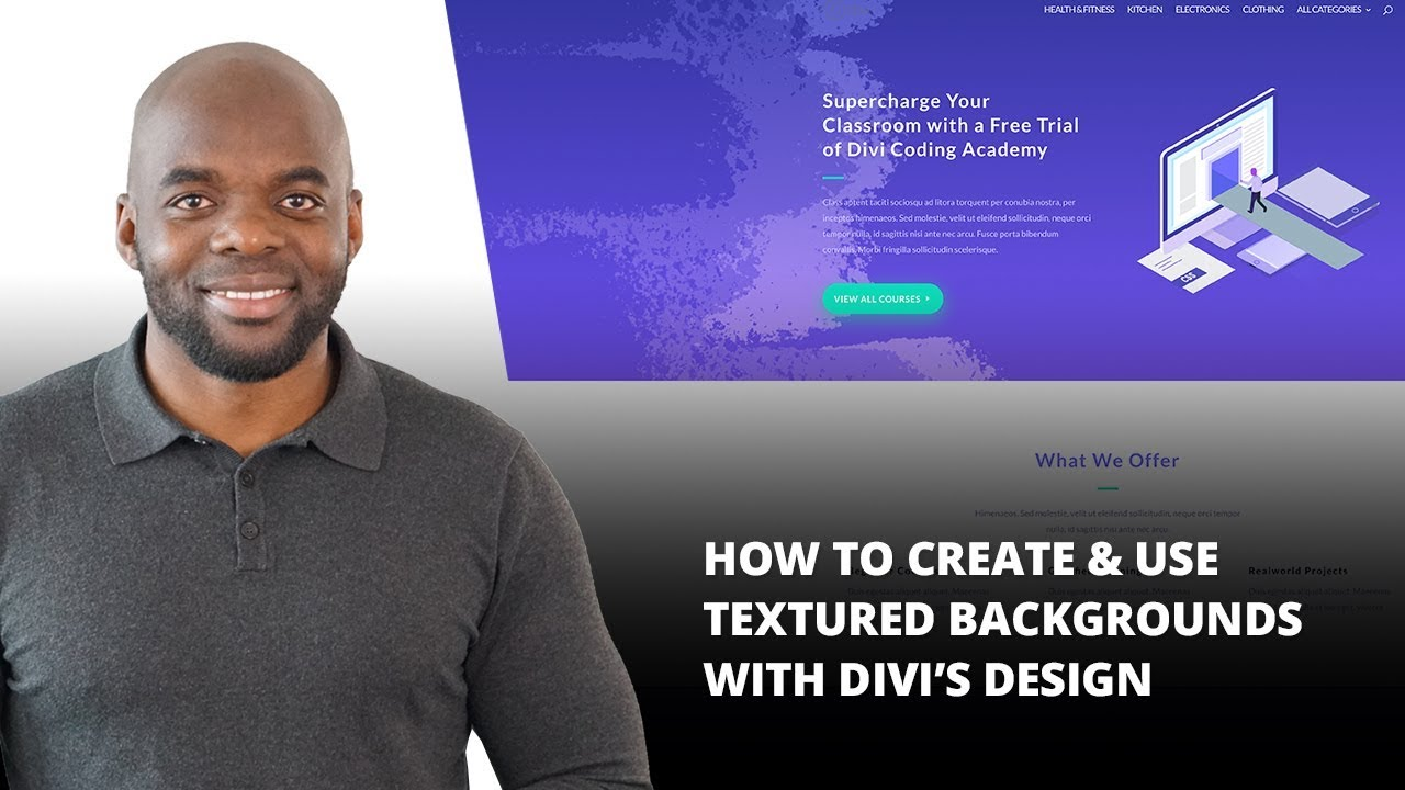 How to Create & Use Textured Backgrounds with Divi's Design Options -  YouTube