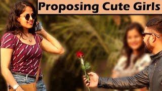 PROPOSING CUTE GIRLS PRANK | Part 2 | Unglibaaz thumbnail