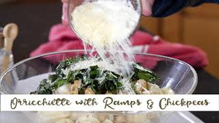 Orecchiette With Ramps and Chickpeas