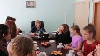 2019 06 18 Интервью с директором школы  130 Машкиной М.А. Лагерь. За чашечкой чая. Отряд Русичи