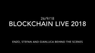 BlockChain Live 2018 - Enzo, Stefan and Gianluca at Olympia London