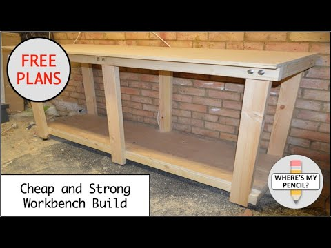 How to build a cheap and strong workbench with free plans for Cheap blueprints