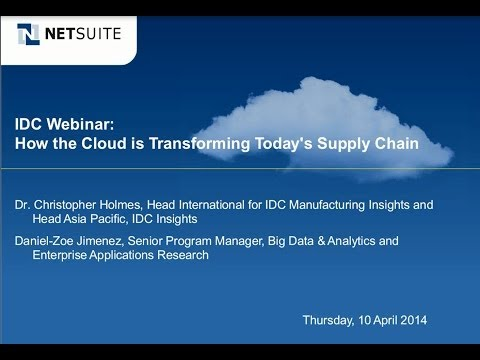 IDC Webinar: How the Cloud is Transforming Today's Supply Chain