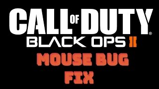 How To Fix Black Ops 2 Mouse Input Lag / Acceleration Problems