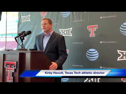 Texas Tech athletic director Kirby Hocutt provides an opening statement on firing Coach Kingsbury