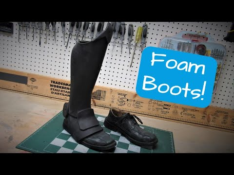 How to Make Cosplay BOOTS / Shoe Covers out of FOAM   MIB