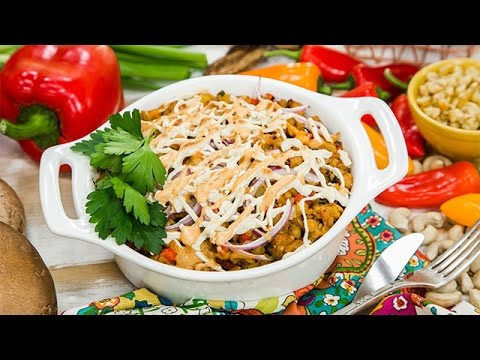 Recipe – Chef Babette Davis' Portobello Mushroom Chipotle Casserole – Hallmark Channel