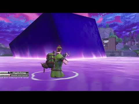 Fortnite Cube sinking into Loot Lake!!! Its a Bounce Field!! No Volcano!