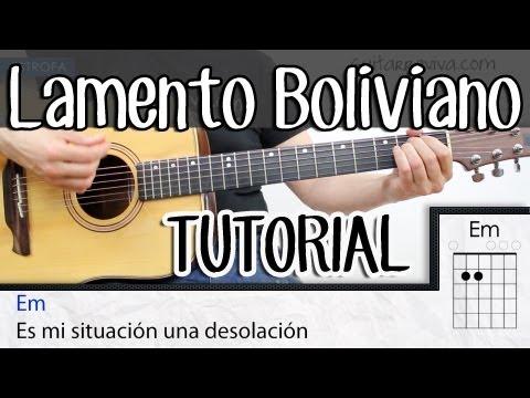 Como tocar Lamento Boliviano Enanitos Verdes en guitarra COMPLETO acordes  tutorial SUPER FACIL