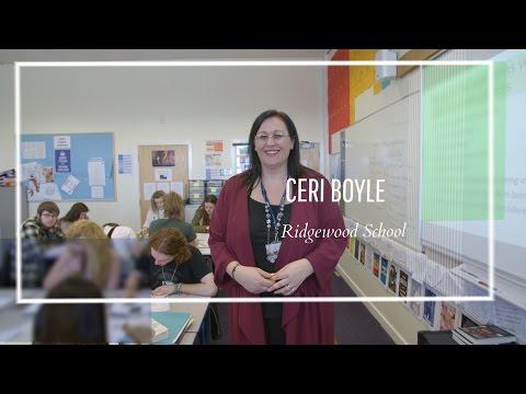 Ceri Boyle: Inspirational Teachers Award Winner 2017
