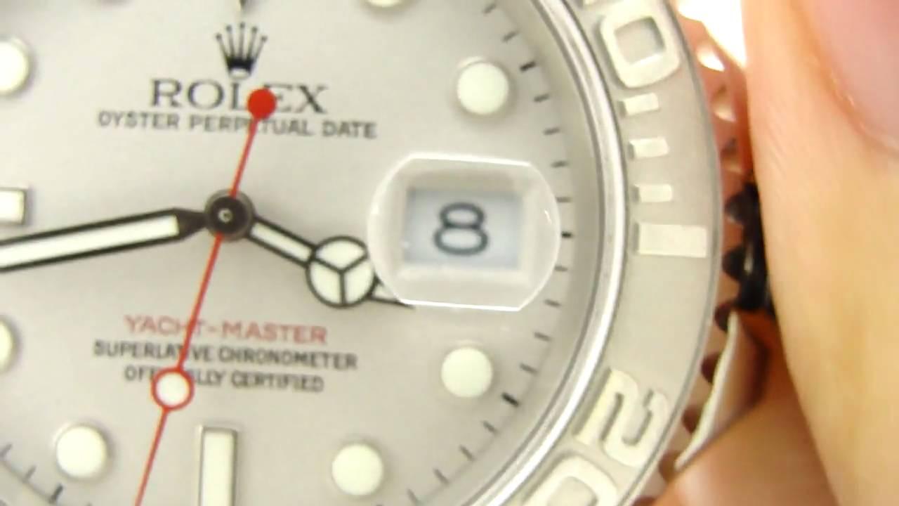 Rolex 16622 Yachtmaster PlatinumSteel Yachty YouTube