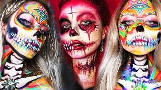 20 Cool DIY Halloween Makeup IDEAS + GRWM DYI Costumes 2018