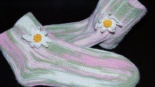 Вязание спицами для начинающих. Носки на 2 спицах  ///  Knitting for beginners. Socks on 2 needles(Будь в курсе новых видео, подписывайся на мой канал ▻http://www.youtube.com/user/hobby24rukodelie?sub_confirmation=1 2 кром + 65 +9+ 17+46..., 2014-11-05T04:08:58.000Z)