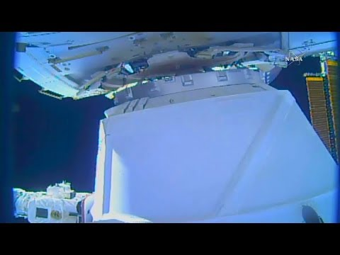Full Space-X Dragon CRS-12 ISS Resupply Ship Berthing And Installation Coverage