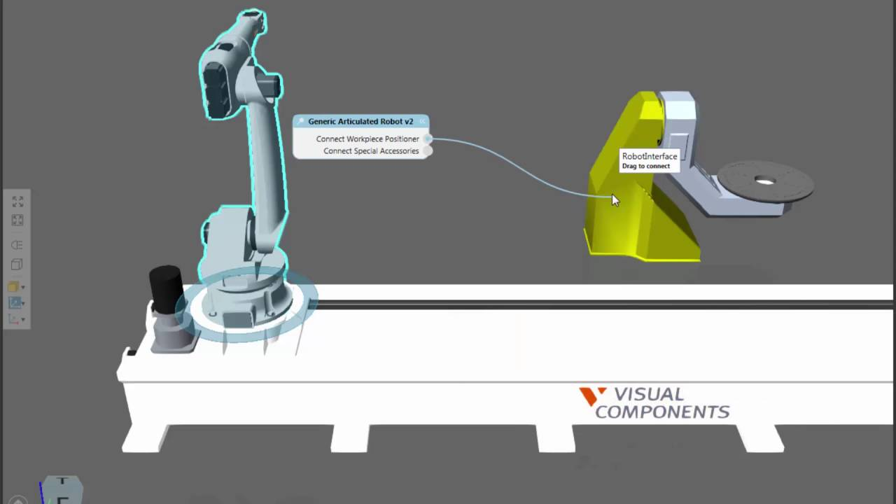 Connect External Axes to a Robot | Visual Components Academy