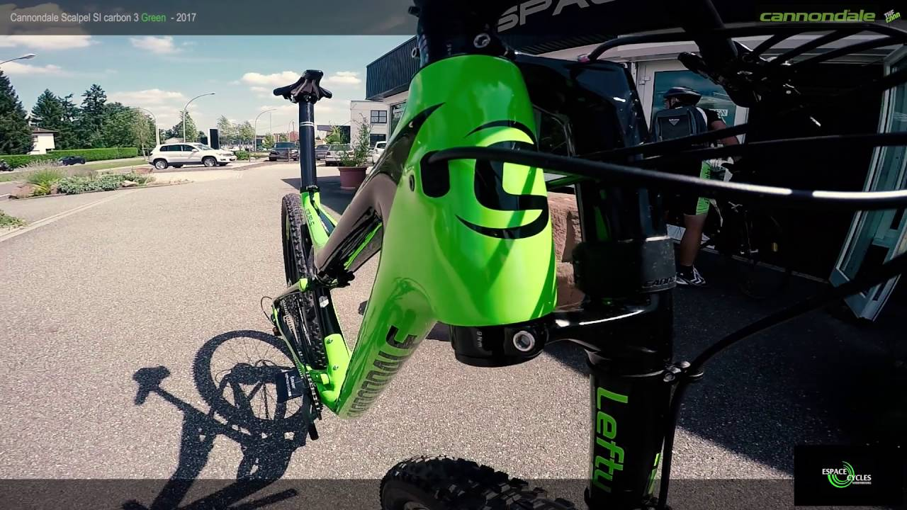 64fe45126f0 Cannondale Scalpel SI carbon 3 Green - 2017 - YouTube