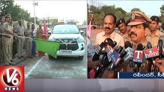 CP Ravinder Launches New Technology Vehicles For Patrolling In Warangal | V6 News