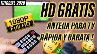 ✔ Cómo hacer ANTENA CASERA HD TV Digital 2018 | Tutorial