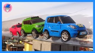 Tobot toys Episode 2. Tobot transforming & Rotate in the air. Car toys for Kids