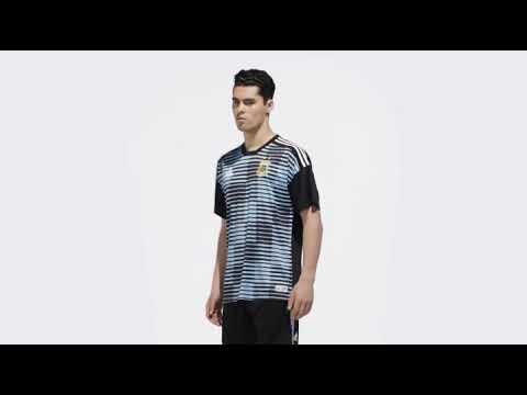 Camisa Argentina Pre Jogo 1 2018 Azul - YouTube ceada3fcc7eb9