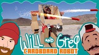 Will & Greg Show: Rocket Launching Cardboard Mech Robot (Ep. 9)
