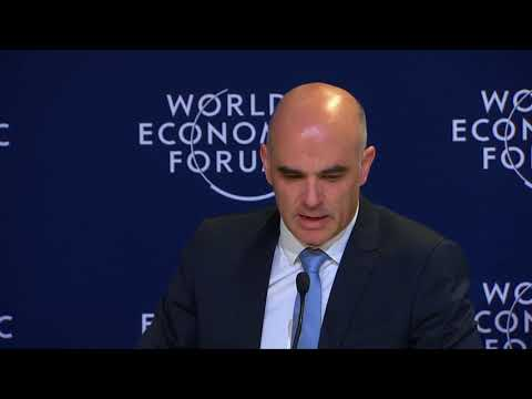 Press Conference with Swiss President Alain Berset after meeting with US President Donald Trump
