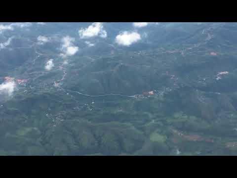 cock pit view during flight from pokhara nepal to kathmandu