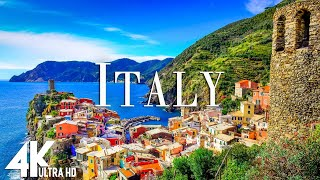 FLYING OVER ITALY  (4K UHD)    Relaxing Music Along With Beautiful Nature Videos   4K Video Ultra HD