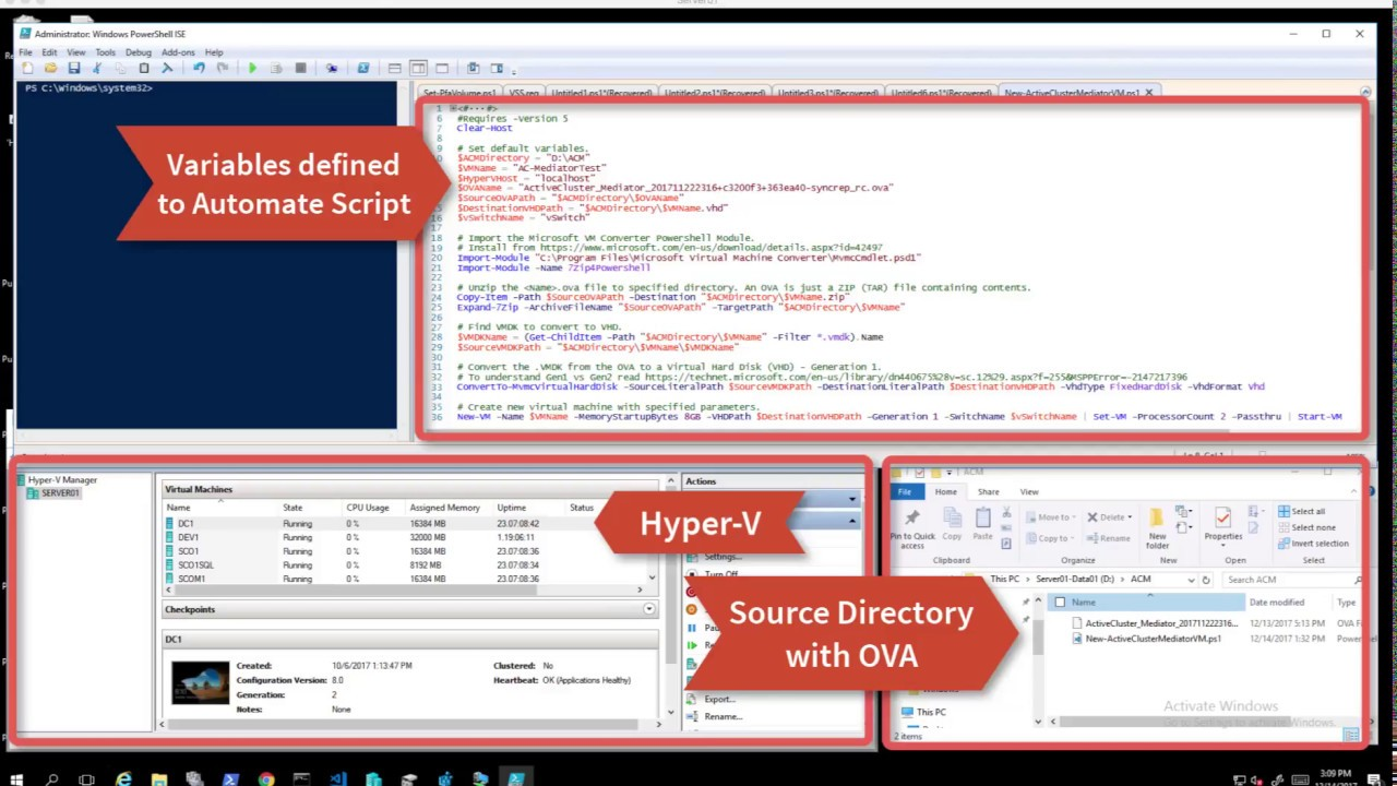 VMware OVA to Hyper-V VHD Conversion