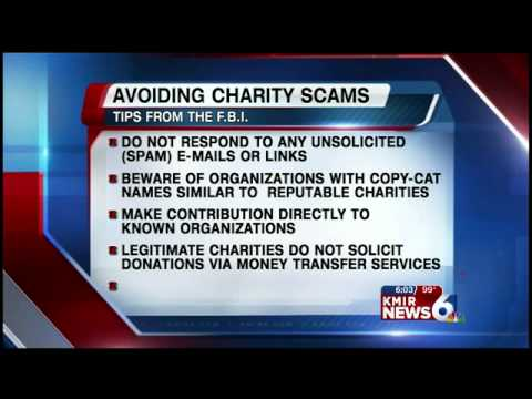 Beware Charity Scams Following Disaster