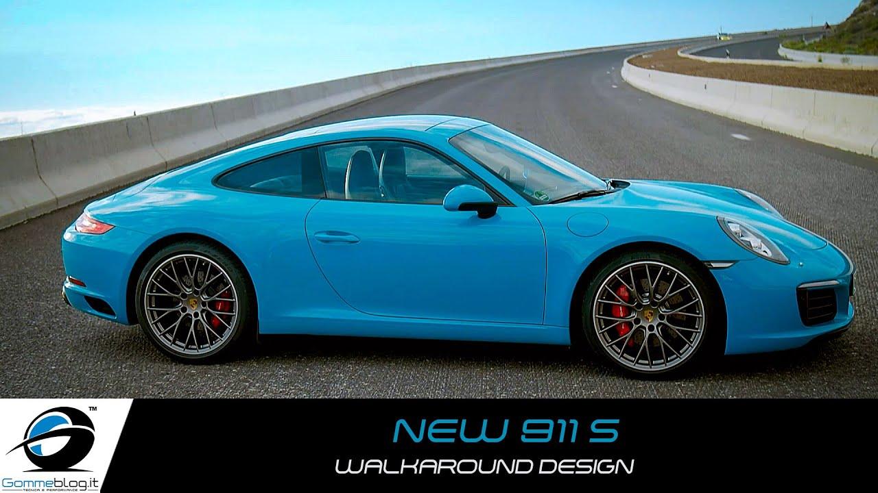 New Porsche 911 Carrera S Miami Blue Walkaround Design