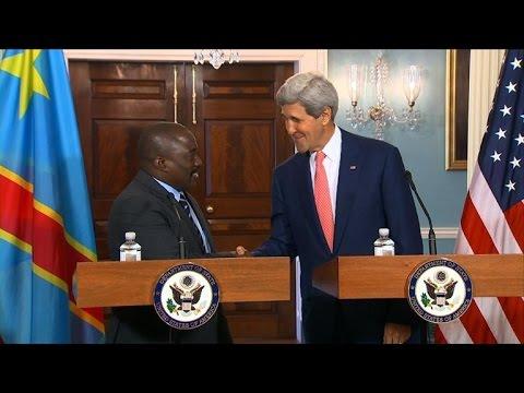 Kerry, DRC president meet as US kicks off Africa summit