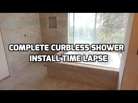 Complete Curbless Shower  Floor Install Arc Pan Time