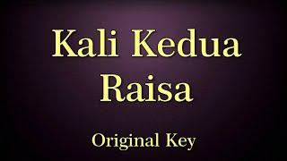 Kali Kedua Raisa Karaoke Original Key