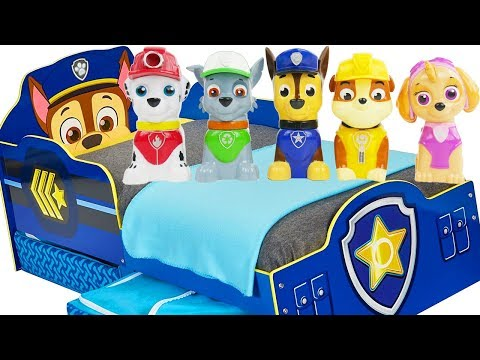 Five Little Monkeys Jumping on the Bed Paw Patrol Learn Colors Top Baby Nursery Rhymes for Kids Song