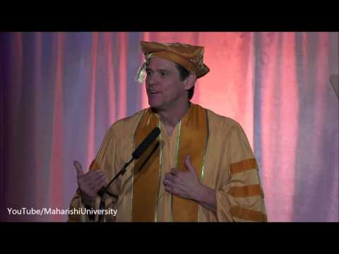Jim Carrey - Inspiring Commencement Speech Maharishi University